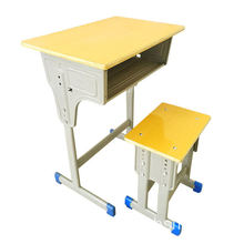 School Desk and Chair Fixed Student Chair and Desk Set Environmental PE/PP Classroom Furniture